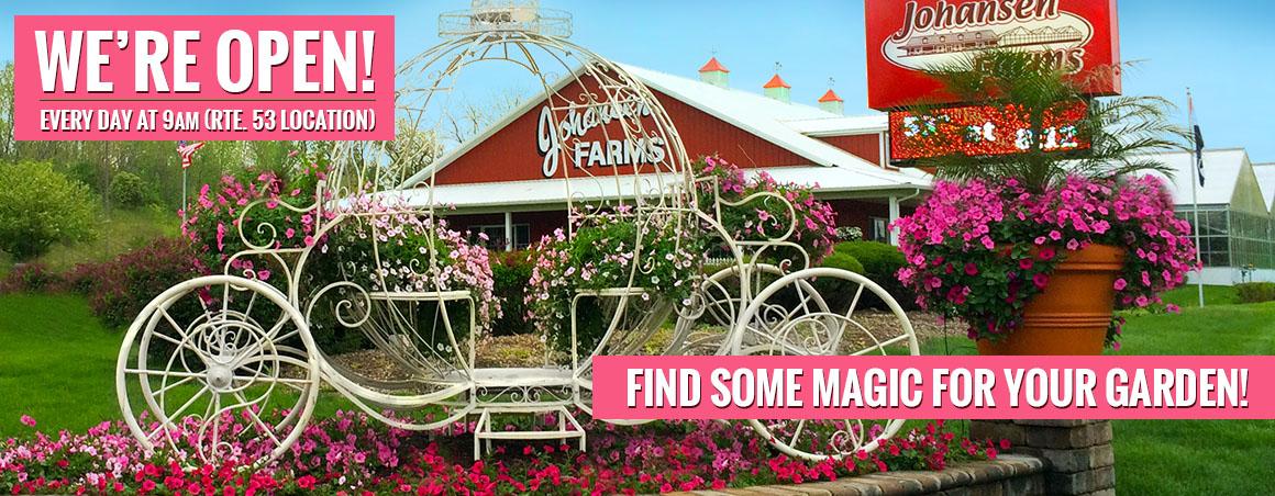 Johansen Farms Nursery & Garden Center - We're OPEN at 9am Daily - Rte 53 in Bolingbrook, IL