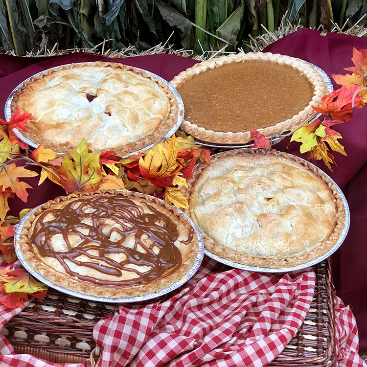 Johansen Farms Peach-Berry, Pumpkin, Apple Caramel Walnut & Traditional Apple Pies