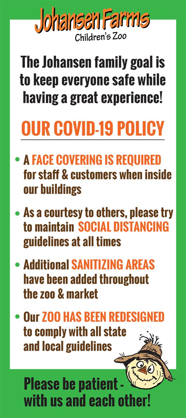 Johansen Farms Covid-19 Policy